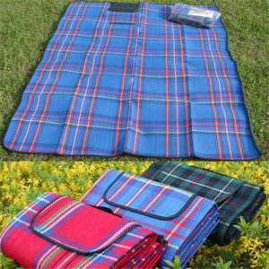 150*200cm  Folding Camping Mat Waterproof Sleeping Camping Pad Outdoor Beach Picnic Mat Moistureproof Plaid Blanket