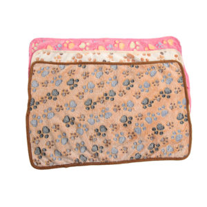 1PC Hot Warm Size XS-L Pet Mat Small Large Paw Print Cat Dog Puppy Fleece Soft Blanket Cushion Pet Accessories