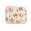 1PC Hot Warm Size XS-L Pet Mat Small Large Paw Print Cat Dog Puppy Fleece Soft Blanket Cushion Pet Accessories 4