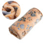 1PC Hot Warm Size XS-L Pet Mat Small Large Paw Print Cat Dog Puppy Fleece Soft Blanket Cushion Pet Accessories 6