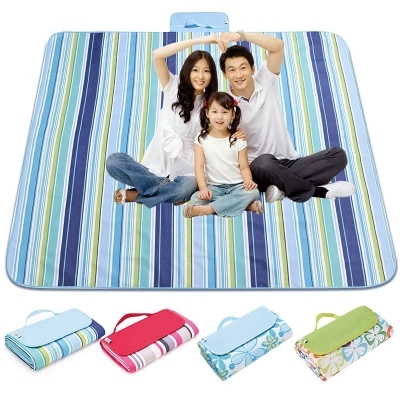 200*200CM/148*180CM Waterproof Collapsible Outdoor Camping Mat Wide Picnic Mat Plaid Beach Blanket Baby Multi-person Tourist Pad