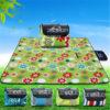 200*200cm Waterproof Foldable Outdoor Camping Mat Picnic Mat Plaid Beach Blanket Baby Climb Blanket Multiplayer Tourist Mat 2