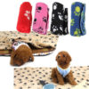 2016 New 70 x 60cm Cute Floral Pet Sleep Warm Paw Print Dog Cat Puppy Fleece Soft Blanket Beds Mat 2