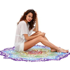 2017 NEW tablecloth Beach Towel Tassel Geometric Print Summer Women Sandy swimming Sunbath Baby Blanket covers up 150x150cm