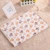 3 Color Cute Floral Pet Sleep Warm Paw Print Dog Cat Puppy Fleece Soft Dog Blanket Pet Dog Beds Mat 40 X 60cm 5