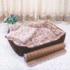 3 Color Cute Floral Pet Sleep Warm Paw Print Dog Cat Puppy Fleece Soft Dog Blanket Pet Dog Beds Mat 40 X 60cm 6