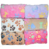 6 Colors Coral Fleece Warm Pet Sleeping Cushion Cover For Pet Dog Cat Puppy Bed Mat Cute Paw Printed Breathable Blanket Pet Dog 2