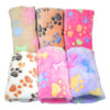 6 Colors Coral Fleece Warm Pet Sleeping Cushion Cover For Pet Dog Cat Puppy Bed Mat Cute Paw Printed Breathable Blanket Pet Dog 3
