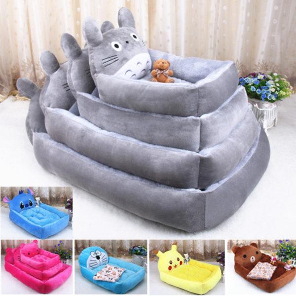 6 Colors Joy Cute Animal Cat Dog Pet Beds Mats Teddy Dogs Sofa Pet Bed House Big Blanket Cushion Basket Supplies Cartoon