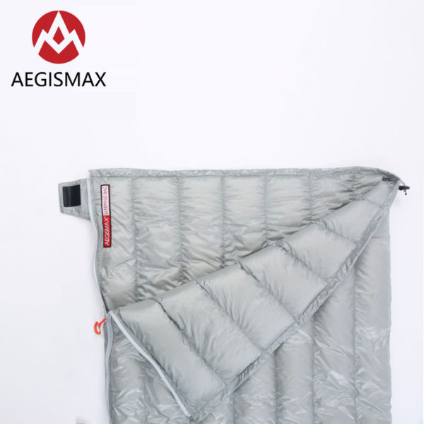 AEGISMAX Outdoor Camping E Series 95% Goose Down Envelope Sleeping Bag Three-Season Lengthened Adult Nylon Spring Sleeping Bag