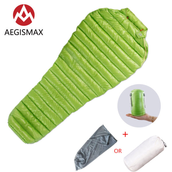 AEGISMAX  Ultralight Sleeping Bag  MINI-MINI Long 95% Goose Down Mummy  Outdoor Camping Lengthened Adult Nylon Spring Lazy bag