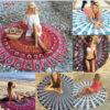 Beach Mat Yoga Mat Bedspread Starry Sky Stars Mandala Tapestry Beach Table Cloth Hippie Blanket Scenery Decoration 7DZ234 2