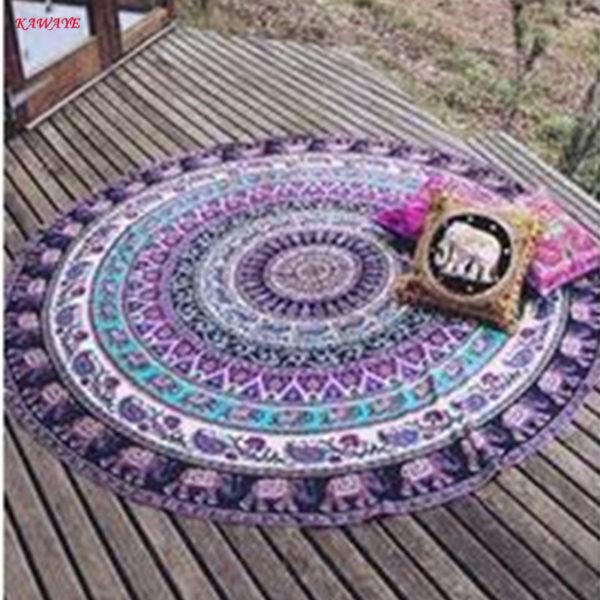 Beach Mat Yoga Mat Bedspread Starry Sky Stars Mandala Tapestry Beach Table Cloth Hippie Blanket Scenery Decoration 7DZ234