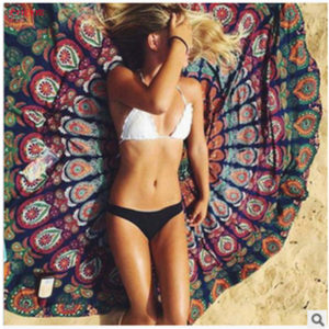 Beach Mat Yoga Mat Bedspread Starry Sky Stars Mandala Tapestry Beach Table Cloth Hippie Blanket Scenery Decoration 7DZ234
