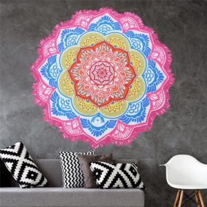 Beach towel 2018 Newest Style Fashion Flamingo Round Beach Towel With Tassels Microfiber 150cm Picnic Blanket shawl 6ZDZ236