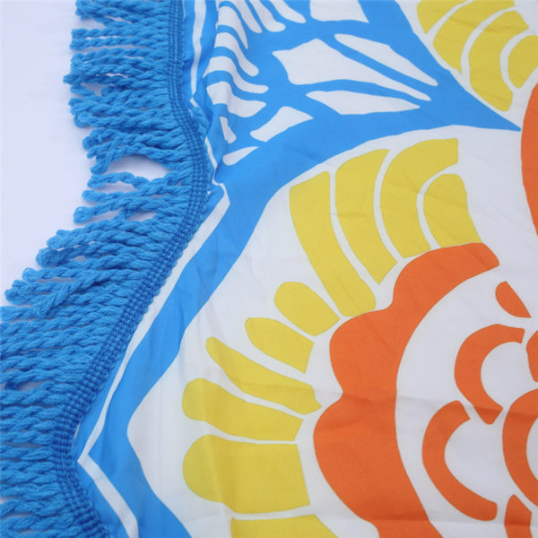 Beach towel 2018 Newest Style Fashion Flamingo Round Beach Towel With Tassels Microfiber 150cm Picnic Blanket shawl 6ZDZ236