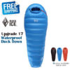 Black Ice Upgrade B700 Mommy Black/Blue/ Orange Splicing  Ultra-Light Autumn Spring Adult Outdoor WaterproofDown Sleeping Bag
