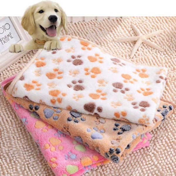 Comfortable Pet Bed Mats Sleep Flora Paw Print Dog Cat Puppy Fleece Soft Blanket Pet Dog Beds Mat For Pet Cat Small Dog Supplies