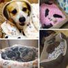 Comfortable Pet Bed Mats Sleep Flora Paw Print Dog Cat Puppy Fleece Soft Blanket Pet Dog Beds Mat For Pet Cat Small Dog Supplies 5