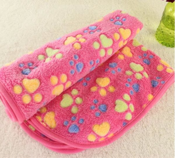 Cute Bull Terrier Coral Fleece Warm Pet Bed Mats House Soft Blanket for Cats Dogs Towel Soft And Comfortable