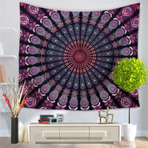 Delicate Wall Tapestry Multifunction Mandala Carpet Beach Blanket Tablecloth For Home Decoration Supplise 9 style Free Shipping