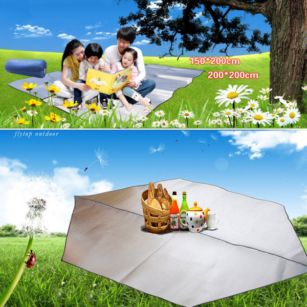 Double-sided Aluminum Film Ultralight Camping Picnic Mat Tent Accressories Equipment Picnic Blanket Waterproof Sleeping Mat