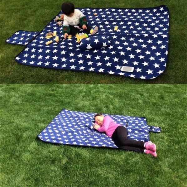 Foldable Outdoor Camping Mat Pad Picnic Mat Pad Blanket Baby Climb Plaid Blanket Waterproof Moistureproof Beach Blanket Mat