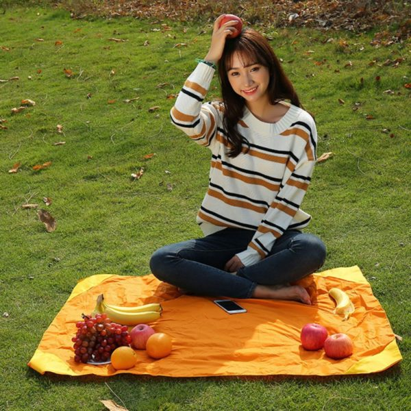 Foldable Outdoor Camping Mat Portable Pocket Compact Moistureproof pad Blanket Waterproof Chair Picnic Mat 4 Colors