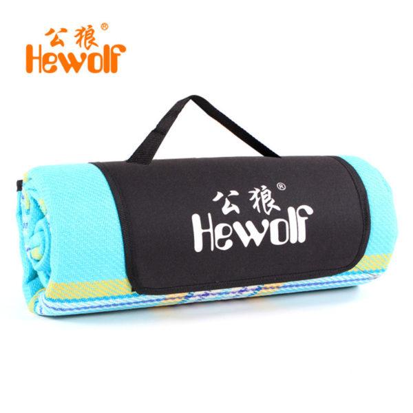 Hewolf Cashmere Picnic Mat waterproof Aluminum Film Tent Sleeping Pad Foldable Beach Camping picnic mat blanket Cushion170*130cm