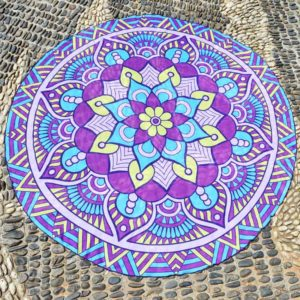 Hot Sale Round Beach Towel Yoga Mat Printed Circular Scarf Chiffon Shawl Outdoor Hippie Blanket
