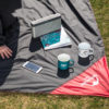 KORAMAN brand portable ultra-thin folding camping mat pocket blanket camping waterproof blanket outdoor picnic mat 4