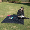 KORAMAN brand portable ultra-thin folding camping mat pocket blanket camping waterproof blanket outdoor picnic mat 5