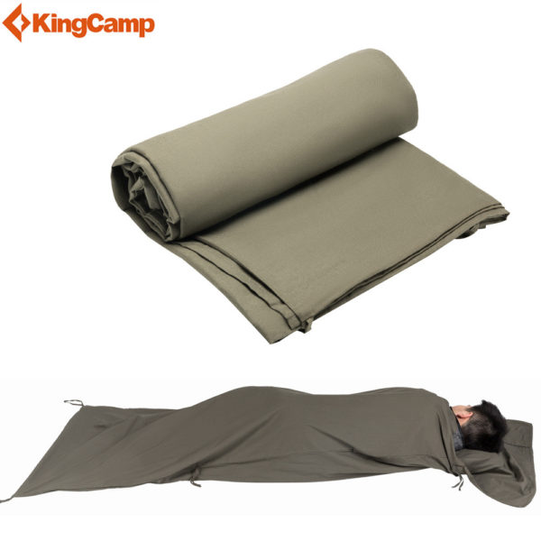 KingCamp Outdoor Camping Envelope Sleeping Bag Liner for Travel, Camping 220x86cm Splicing Cotton Portable Sleeping bags