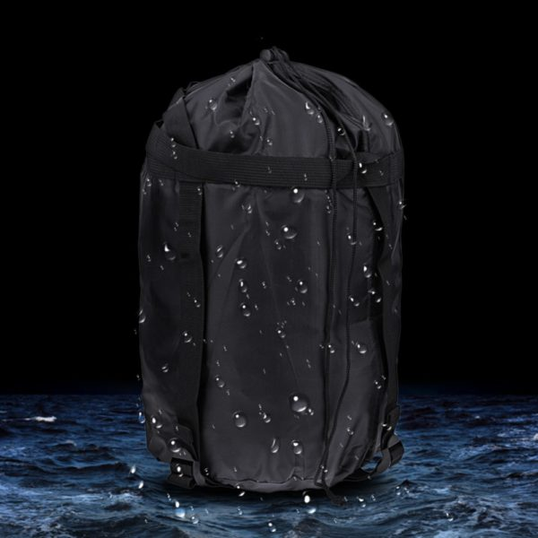 Lightweight Nylon Compression Stuff Sack Bag Waterproof Outdoor Camping Small Sleeping Bag Black Drawstring Bag 43 * 23 * 23cm