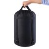 Lightweight Nylon Compression Stuff Sack Bag Waterproof Outdoor Camping Small Sleeping Bag Black Drawstring Bag 43 * 23 * 23cm 4