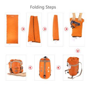 Lixada190 * 75cm Outdoor Envelope Sleeping Bag Camping Travel Hiking Multifunction Ultra-light 680g