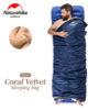 NatureHike 190*75cm Coral Velvet Envelope Sleeping Bag Ultralight For Hiking Camping Traveling NH17S015-S 2