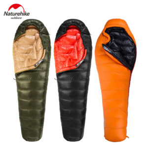 Naturehike New Outdoor Duck Down Sleeping Bag Mummy Sleeping Bag Winter Sleeping Bag NH15D800-K