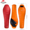Naturehike New Outdoor Duck Down Sleeping Bag Mummy Sleeping Bag Winter Sleeping Bag NH15D800-K 3