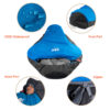 Naturehike Outdoor Professional Mummy Sleeping Bag Hiking Warm Lightweight Compact 3-4 Season For Adult/Child With Carry Bag 6