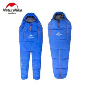 Naturehike Splicing Mummy Single Sleeping Bag Cotton Leg Split Family Outdoor Indoor Human Shape Adult Camping Sleeping Bag