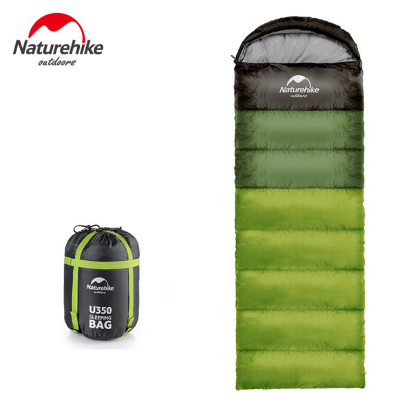 Naturehike Spring and Autumn Camping Sleeping Bag Soft Sleeping Bags Envelope Spliced Left Right Splicing Single Blue Orange