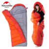 Naturehike Spring and Autumn Camping Sleeping Bag Soft Sleeping Bags Envelope Spliced Left Right Splicing Single Blue Orange 3