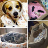 New Cute Dog Bed Mats Soft Flannel Fleece Paw Foot Print Warm Pet Blanket Sleeping Beds Cover Mat For Small Medium Dogs Cats 6