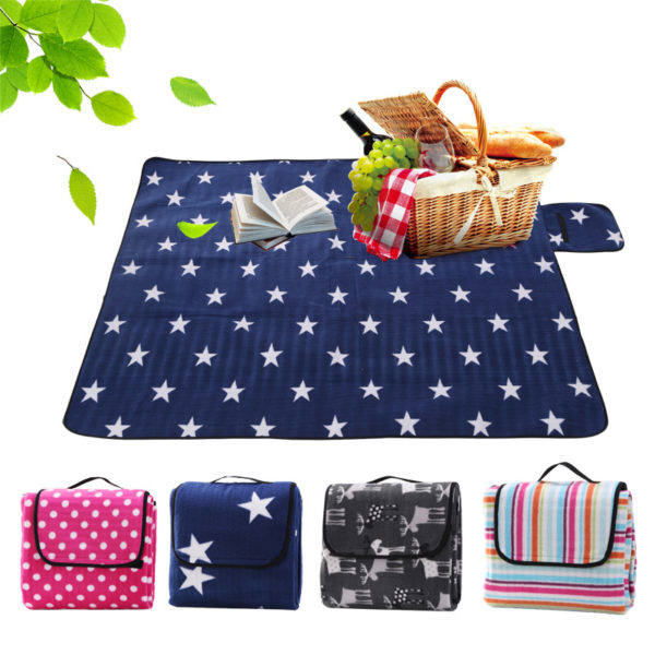 Outdoor Camping Mat Pad Picnic Mat Pad Blanket Foldable Baby Crawling Blanket Pad Waterproof Moistureproof Beach Blanket Mat
