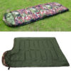 Outdoor Sleeping Bag Professional Envelope Sleeping Bag Foldable Water Resistance Hooded Cotton For Outdoor Camping Travel 2
