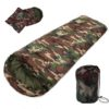 Outdoor Sleeping Bag Professional Envelope Sleeping Bag Foldable Water Resistance Hooded Cotton For Outdoor Camping Travel