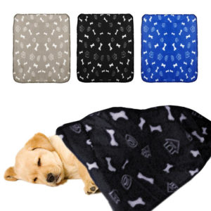 Pet Bed Blankets For Dogs 1 PC Pet Dog Cat Blanket Soft Warm Fleece Mat Bed Cover 70*60cm Bone Print Blanket Wholesale D28