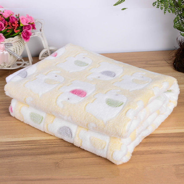Pet Product Dog Blanket Bed Winter Warm Coral Fleece Blanket Dog Mat Soft Cute Animal Print Puppy Cushion Pet Carpet