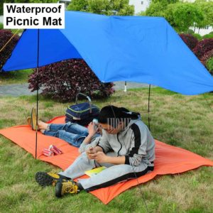 Portable Outdoor Camping Tent Cushion Waterproof Sunscreen Picnic Mat Oxford Cloth Moisture Blanket Beach Mattress Travel Mats